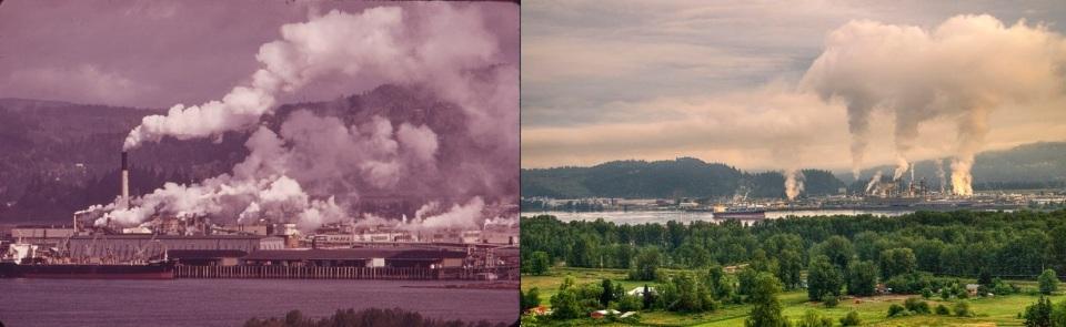 Columbia River 1973 & 2012. David Falconer (1973) and Craig Leaper (2012).