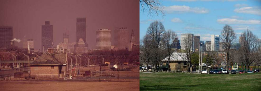 Moakley Park, South Boston, MA. Ernst Halberstadt (1973) and Roger Archibald (2012)