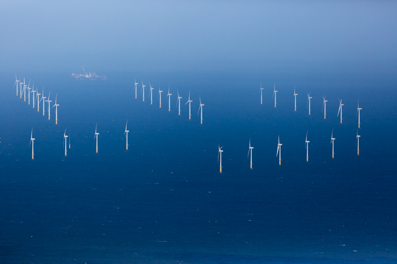 A 25-turbine wind farm located about eight kilometers off the northern Welsh coast in the Irish Sea.